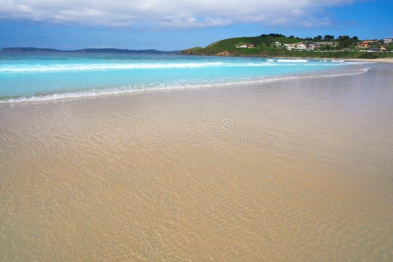 Montalvo beach in Pontevedra Galicia in Sanxenxo. Montalvo beach in Pontevedra of Galicia in Sanxenxo also Sanjenjo at Spain stock photography