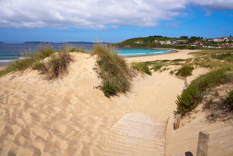 Montalvo beach in Pontevedra Galicia in Sanxenxo. Montalvo beach in Pontevedra of Galicia in Sanxenxo also Sanjenjo at Spain royalty free stock photography