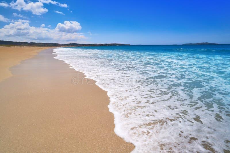 Montalvo beach in Pontevedra of Galicia Sanxenxo. Montalvo beach in Pontevedra of Galicia in Sanxenxo also Sanjenjo at Spain stock image