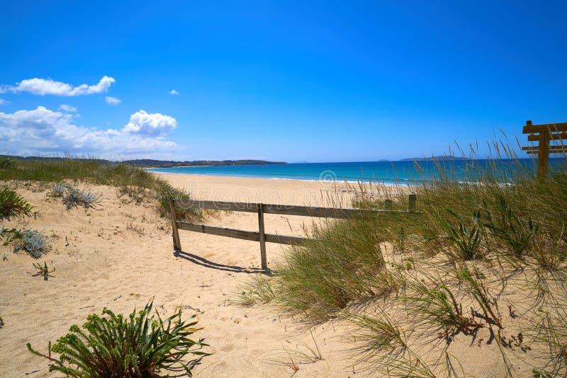 Montalvo beach in Pontevedra of Galicia Sanxenxo. Montalvo beach in Pontevedra of Galicia in Sanxenxo also Sanjenjo at Spain royalty free stock photos