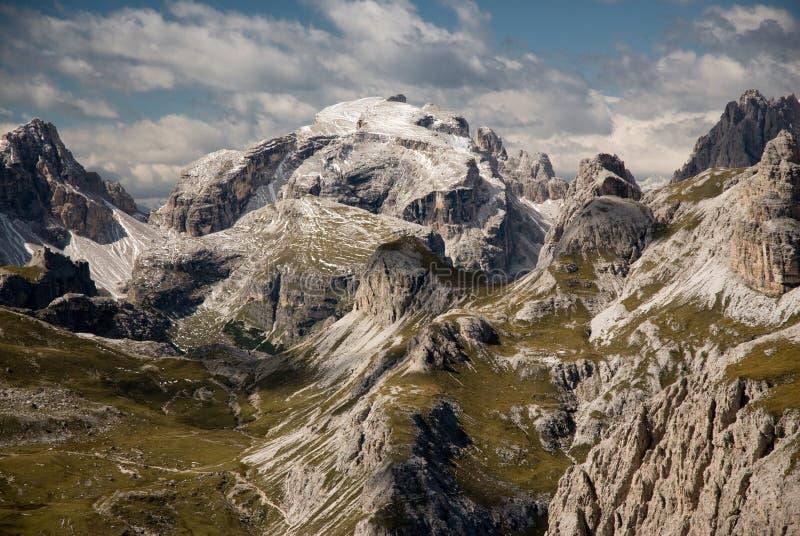 Montan@as de la dolomía, Sexten, Italia. fotografía de archivo