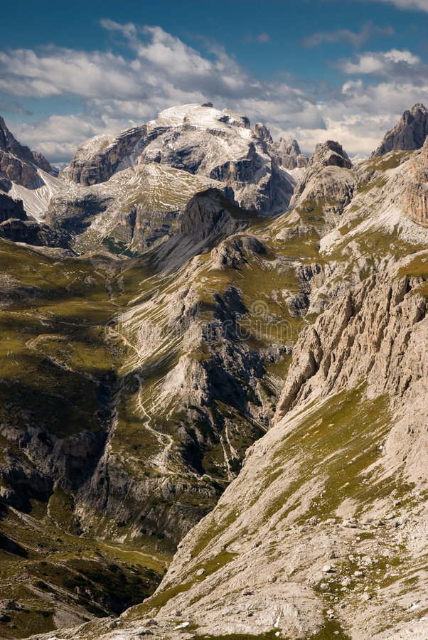 Montan@as de la dolomía, Sexten, Italia. imagen de archivo