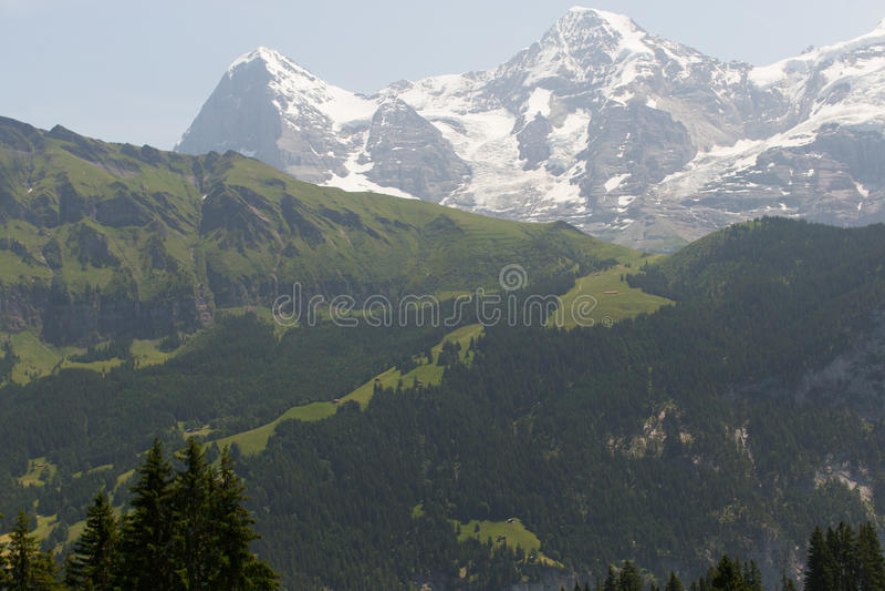 Montan@as en Suiza fotos de archivo