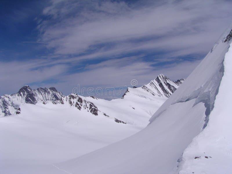 Montan@as en Suiza imagen de archivo