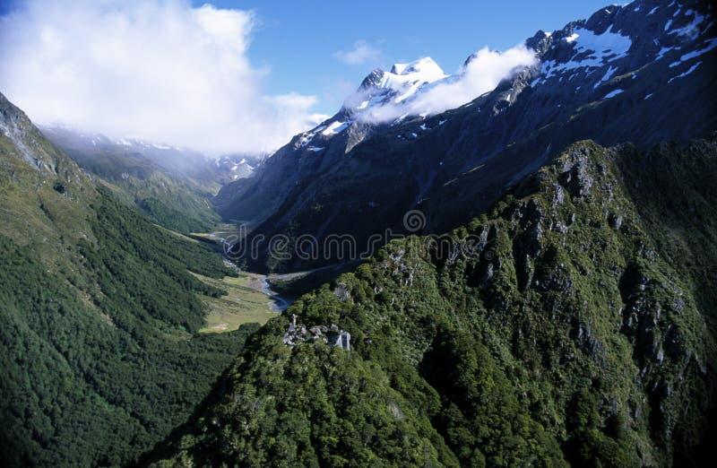 Montan@as meridionales de Nueva Zelandia foto de archivo libre de regalías