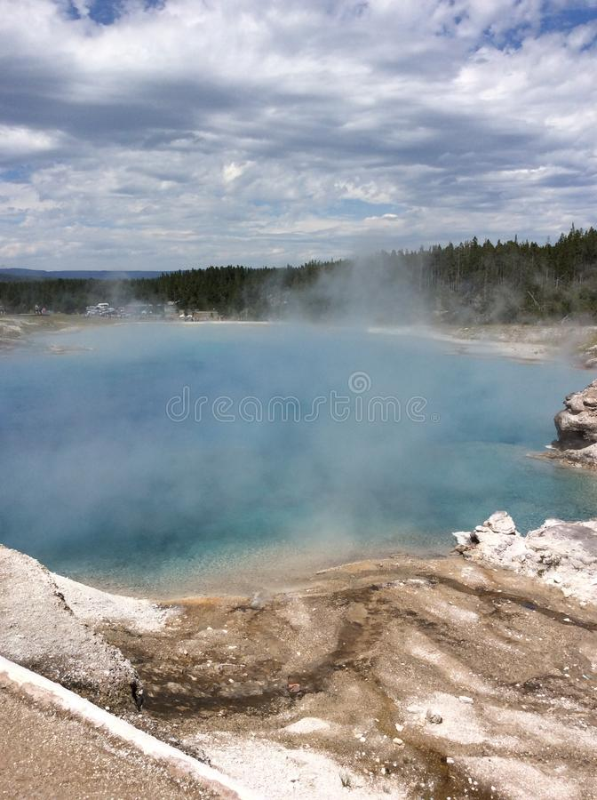 Montana's naturalny stan przy Yellowstone parkiem narodowym obrazy stock