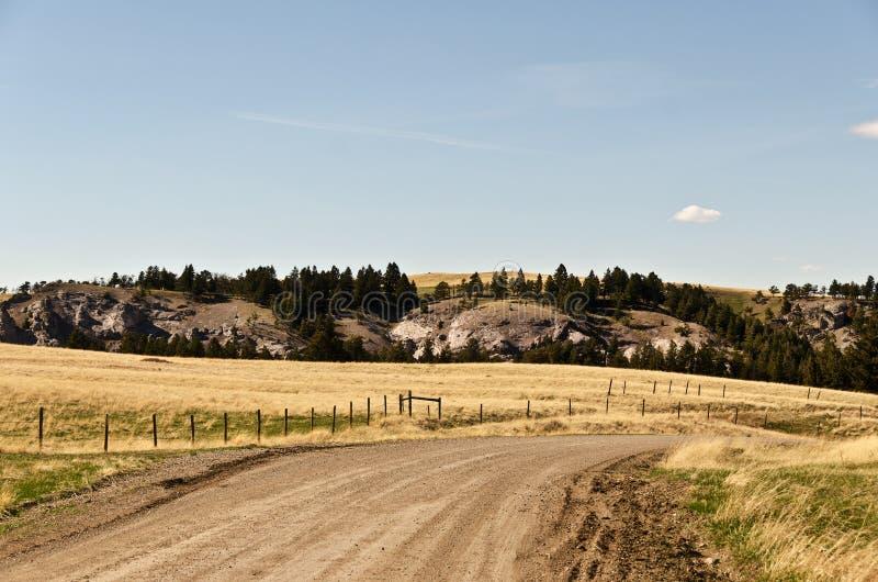 Montana Backroad fotografia de stock