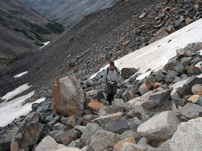 montana bergsbestigningvildmark royaltyfria bilder