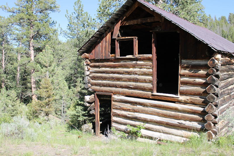 Montana Cabin imagenes de archivo