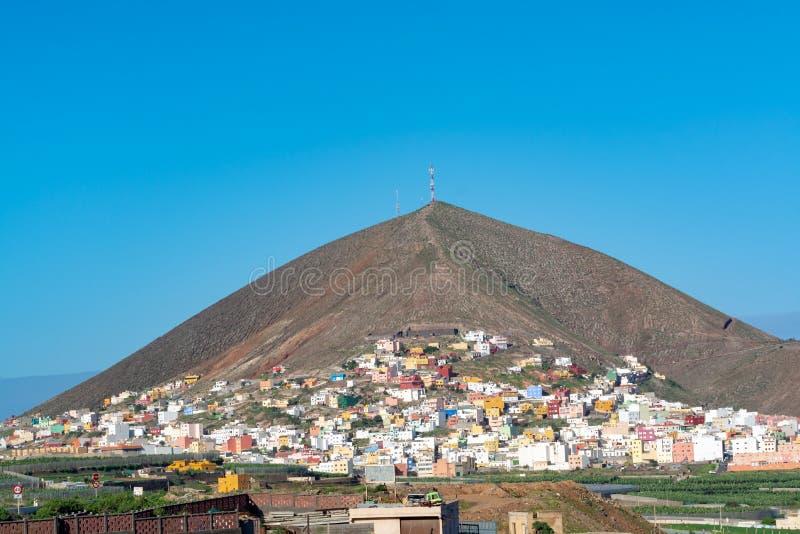 Montana de Guia près de Galdar, partie nord d'île de Gran Canaria, Espagne photographie stock