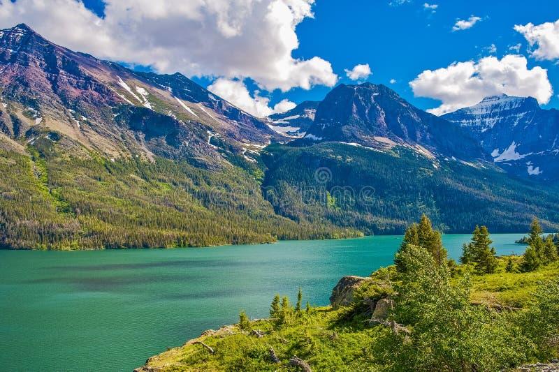 Montana Glacier Mountains fotografia de stock royalty free