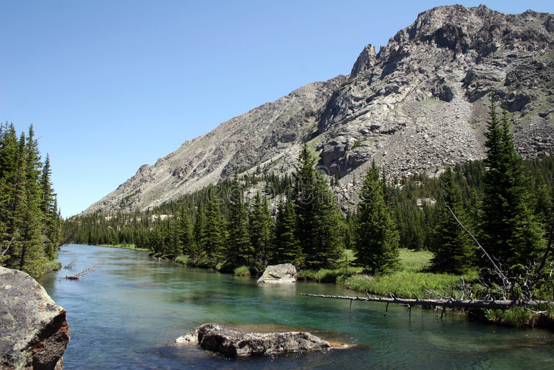 Montana hermoso - fork del oeste del Rock Creek imágenes de archivo libres de regalías