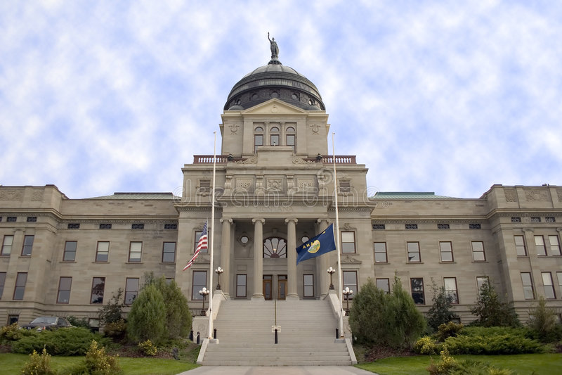 Montana jest kapitolu zdjęcia stock