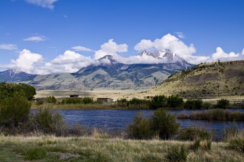 Montana Mountain Scene Stock Photo
