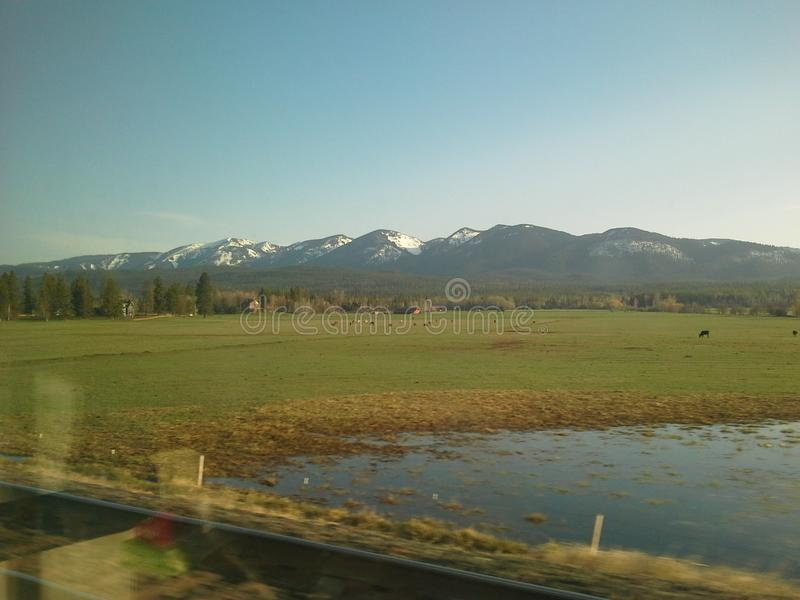 Montana Mountains fotografering för bildbyråer