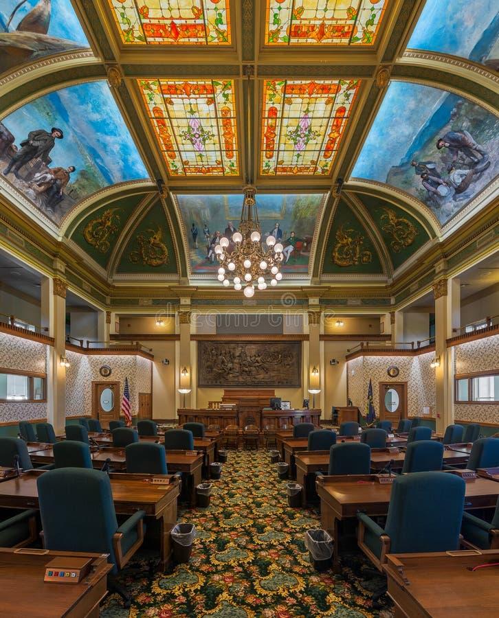 Montana Senate Chamber foto de stock royalty free