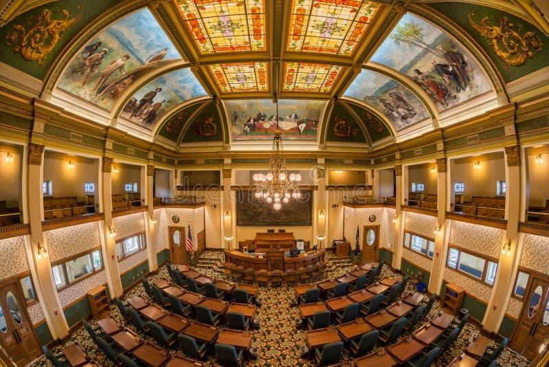 Montana Senate Chamber imagem de stock royalty free