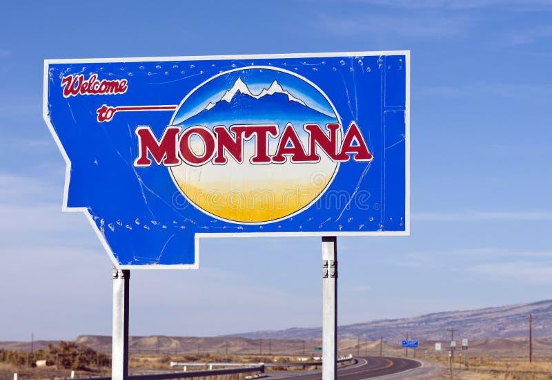 montana som ska välkomnas royaltyfria bilder