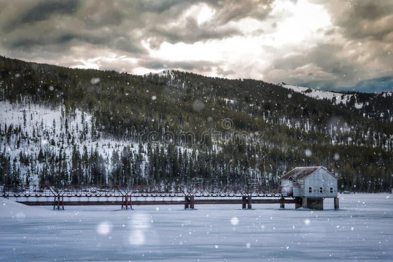 Montana Spring Snow fotografía de archivo