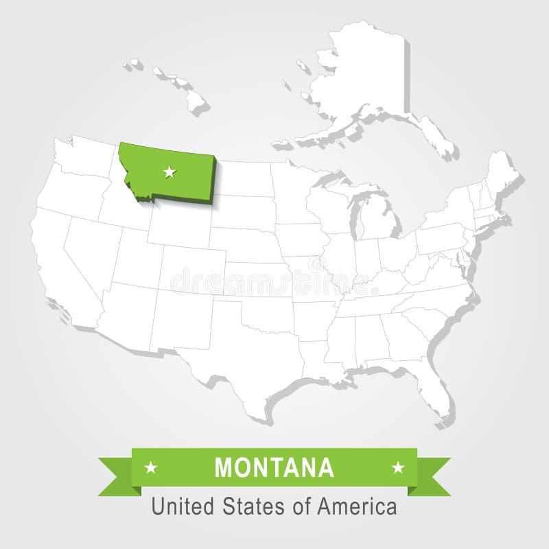Montana State illustrazione vettoriale