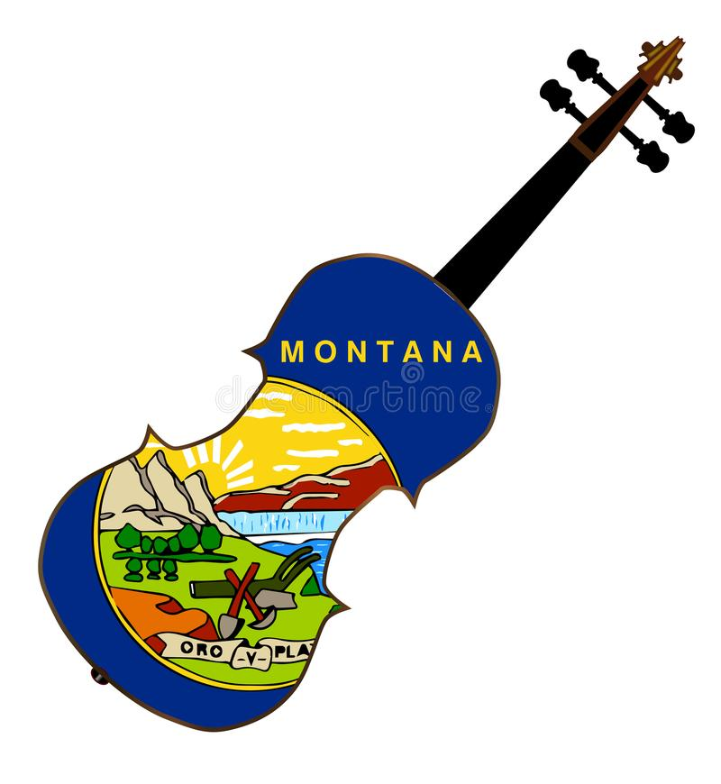Montana State Fiddle royalty illustrazione gratis