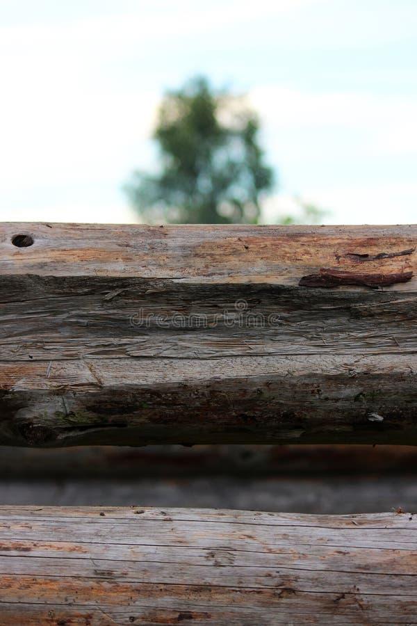Montando um quadro de madeira e a construção de uma casa Rússia Textura de logs e do rebaixo de madeira velhos no log para juntar imagem de stock royalty free