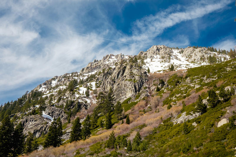 Montanhês de Lake Tahoe, Califórnia fotografia de stock