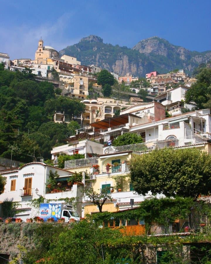 Montanhês de Positano, Itália imagem de stock