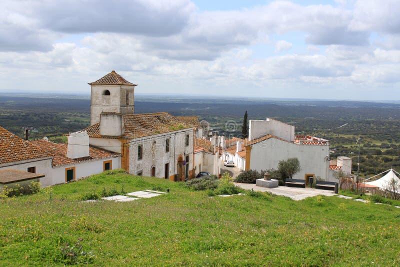 Montanhês dramático em Evoramonte fotos de stock royalty free