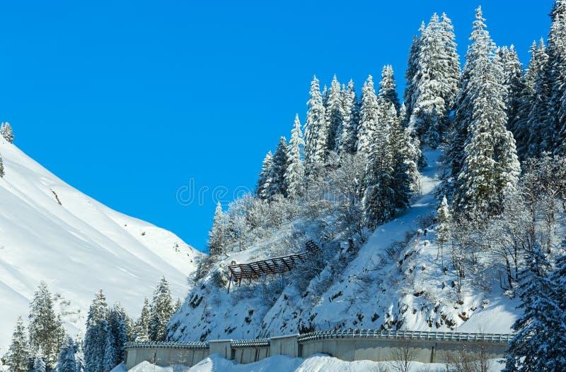 Montanha Áustria do inverno, Tirol fotografia de stock royalty free