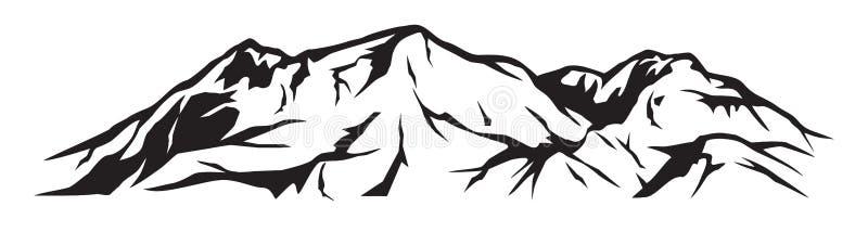 Montanha ilustração royalty free