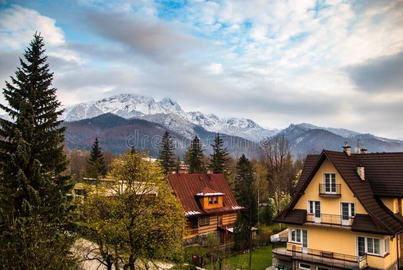 A montanha alta de Tatry no Pol?nia em pode fotografia de stock royalty free