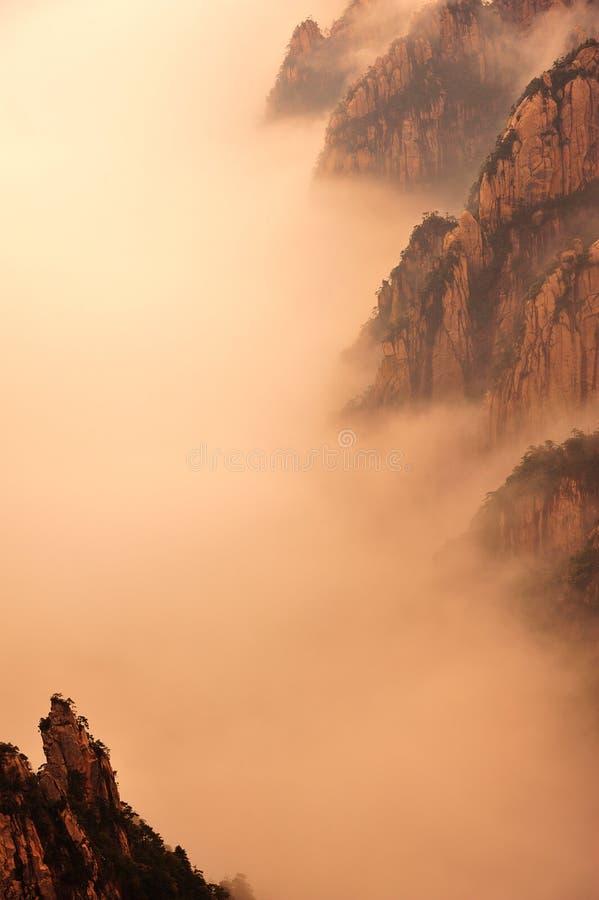 Montanha (amarela) de Huangshan fotografia de stock royalty free