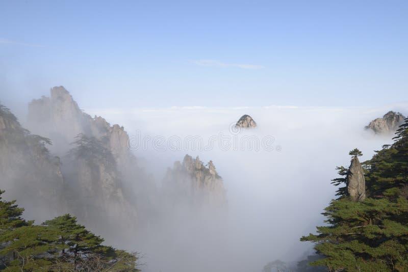 Montanha amarela - Huangshan, China foto de stock royalty free