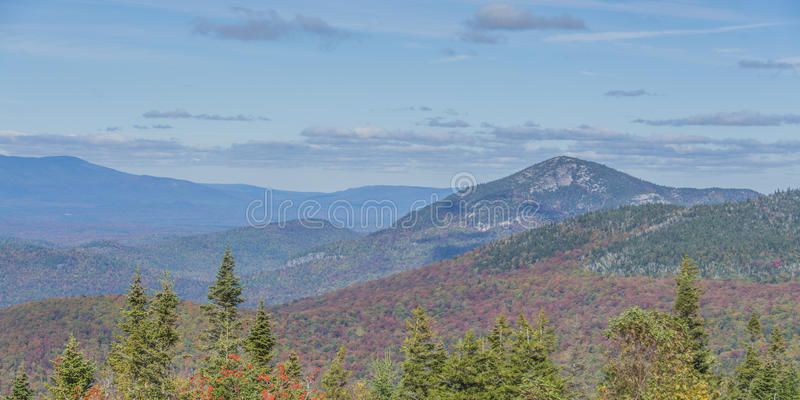 Montanha Autumn Scenery de Whiteface imagens de stock