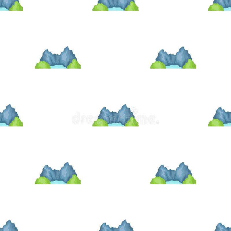 Montanha azul ilustração do vetor