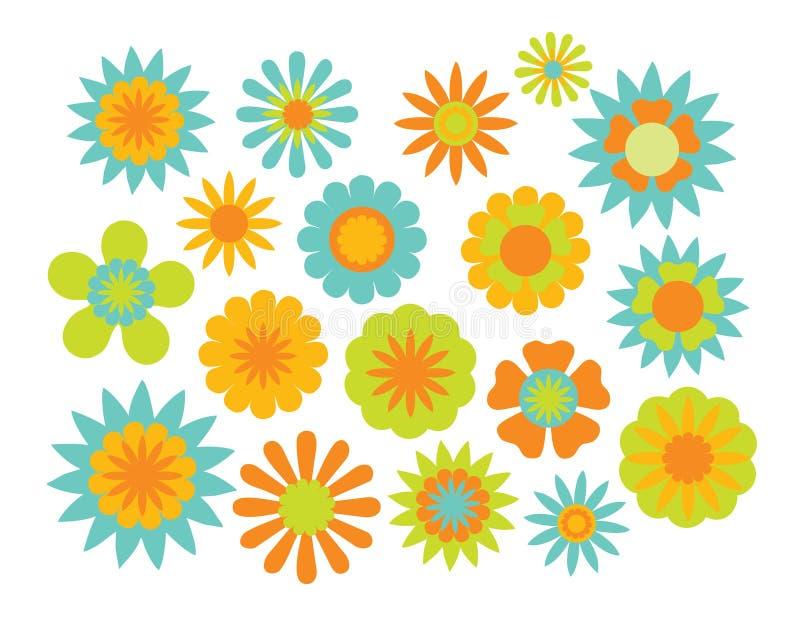 A montanha azul floresce a flor minúscula natural ilustração stock