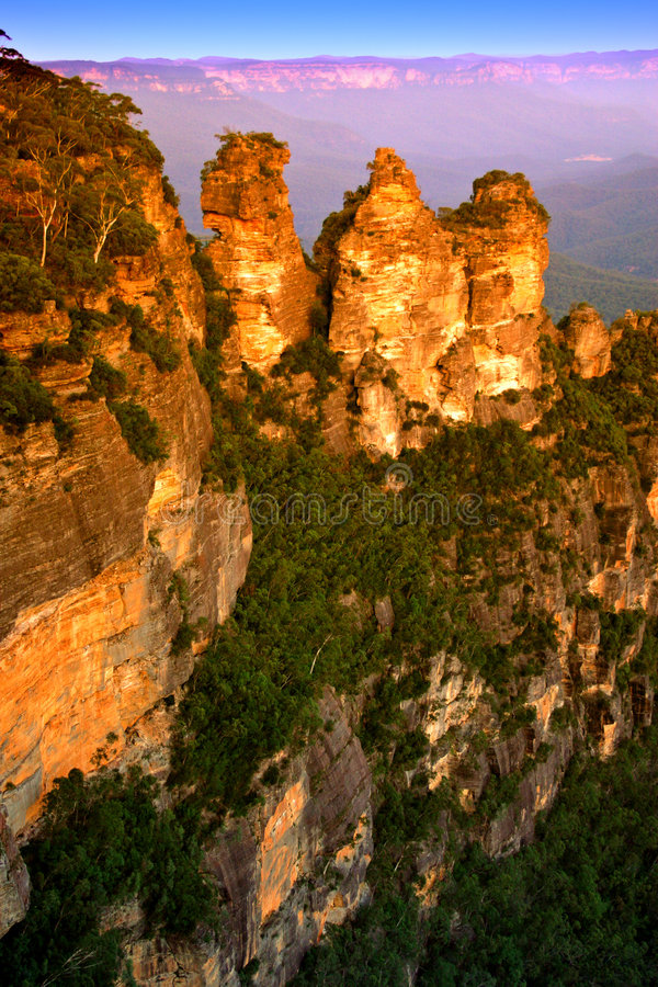 Montanha azul, NSW, Austrália fotografia de stock royalty free