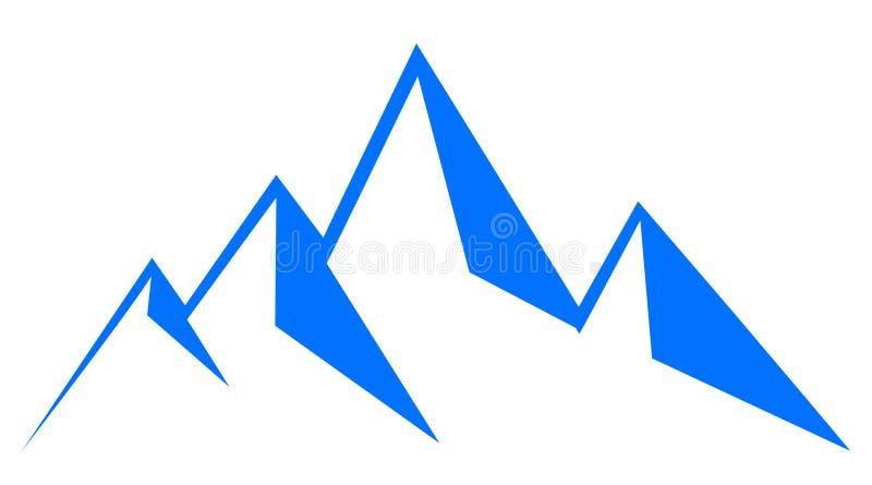 Montanha azul - para o estoque ilustração royalty free
