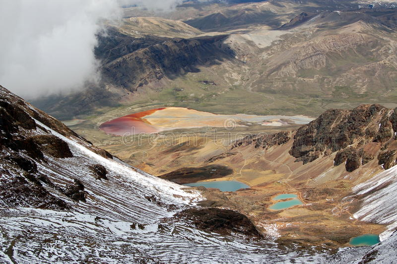 Montanha Bolívia de Chacaltaya imagens de stock