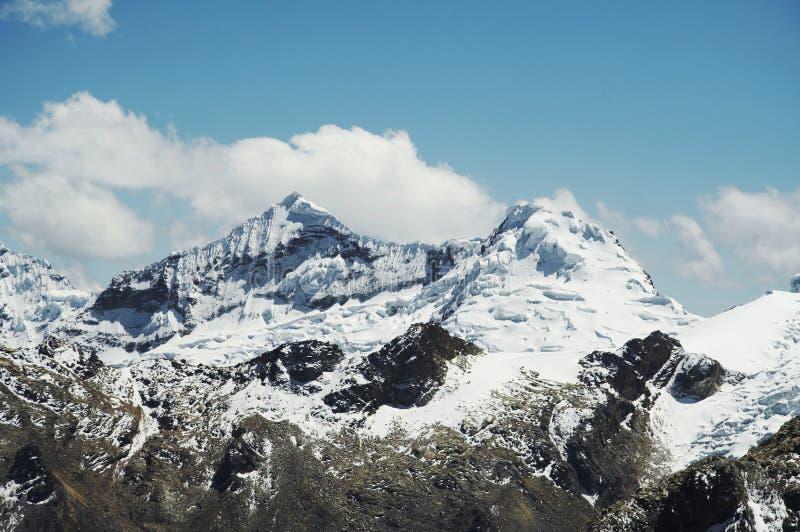 Montanha bonita das Cordilheira foto de stock