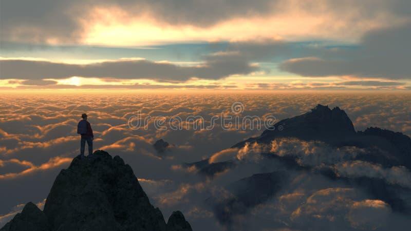 Montanha C1 do céu fotos de stock royalty free
