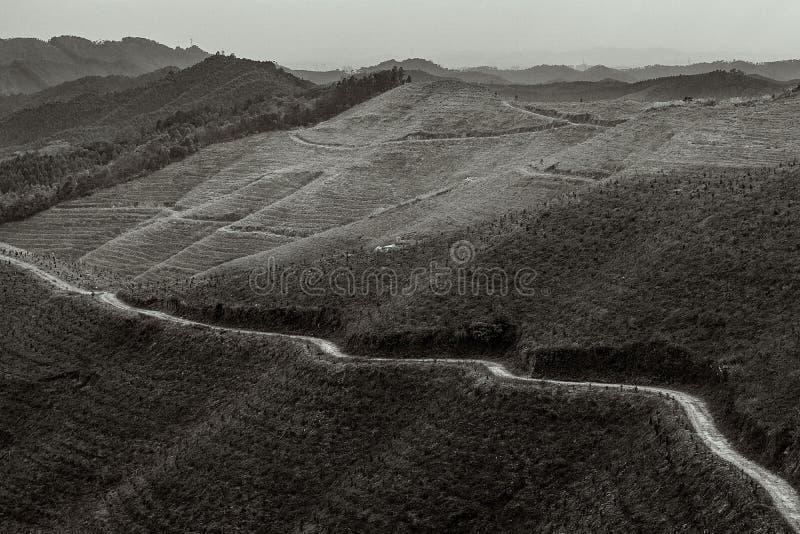 A montanha da molva do lu do xiang imagens de stock