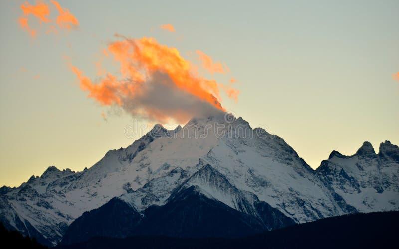 Montanha da mostra de Meili fotos de stock royalty free
