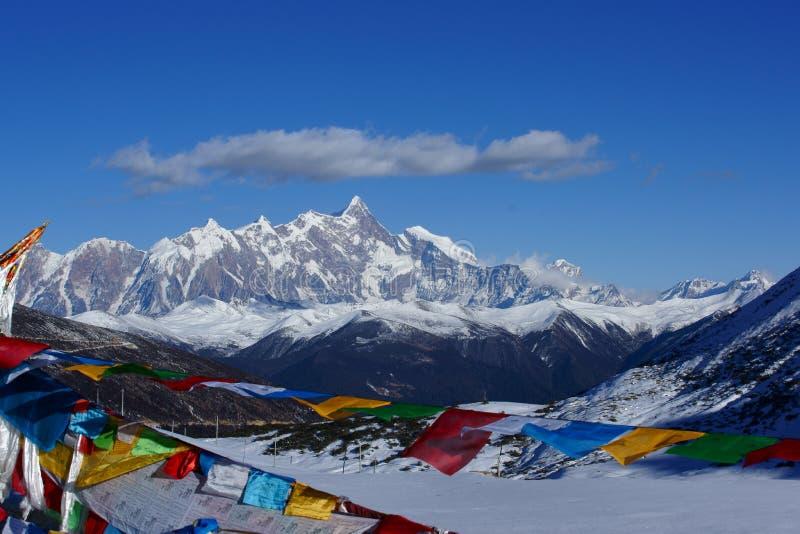 Montanha da neve de Namchabarwa fotos de stock royalty free