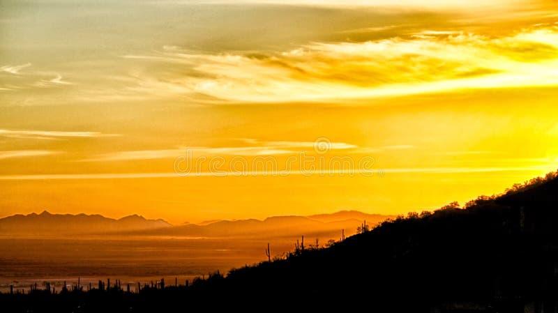 Montanha da pomba do Arizona do por do sol fotografia de stock royalty free