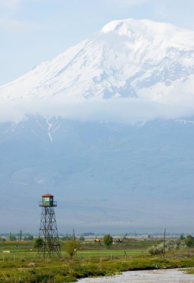 Montanha de Ararat. fotografia de stock royalty free