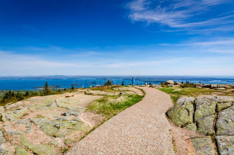 Montanha de Cadillac - parque nacional do Acadia - Maine imagens de stock royalty free