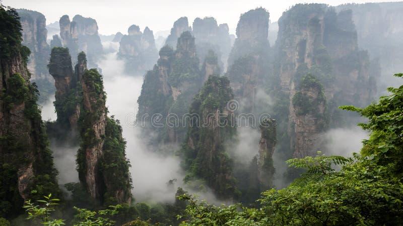 Montanha de China em Zhang Jie Jia foto de stock