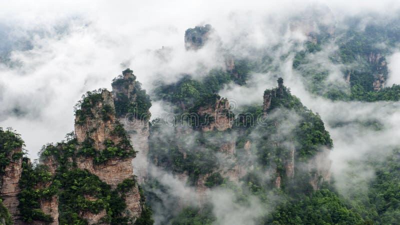 Montanha de China em Zhang Jie Jia fotografia de stock royalty free